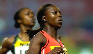 Veronica Campbell-Brown of Jamaica in action PHOTO/Allsports