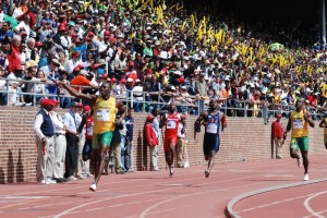 Usain Bolt anchors the Jamaican Gold team to victory (Photo: TrackAlerts.com)